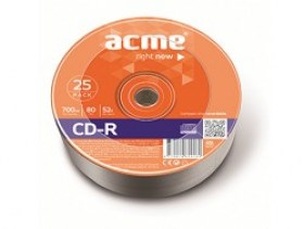 Acme CD-R 80/700MB 52X 25pack spindle