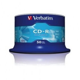 CD-R 50*Spindle Verbatim, 700MB 52x Extra protection magazin birotica Chisinau