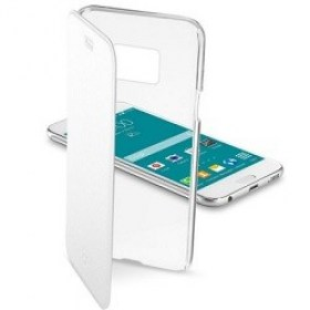 Cellular SAMSUNG G920 (Galaxy S6), Clear Book Case, White