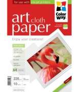 ColorWay PMA220010CA4 Art Cloth MatteFinne Paper A4, 220g, 10pcs