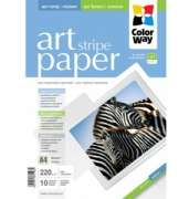 ColorWay PMA220010SA4 Art Stripe MatteFinne Paper A4, 220g, 10pcs