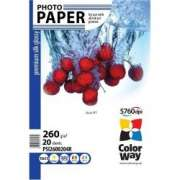 ColorWay PSI2600204R Premium HighGlossy Silk Paper 4R, 260g, 20pcs