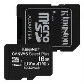 Cumpara Card Memorie Telefon MD 16GB MicroSD UHS-I+SD adapter Kingston Canvas Select Plus SDCS2/16GB itunexx.MD Chisinau