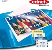Ednet E91527 Laminating Pouches Business Card 60x95mm, 80mic, 50pcs