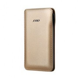 F&D Power Bank Slice T1 6000mAh, Leather Texture, Golden