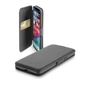 Husa Flip Cellularline Apple iPhone XS Max Book Clutch Case Black