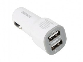 Incarcator Auto pentru Telefon Tableta MD Remax 2xUSB Car adapter, CC201, 2.1A White pret itunexx.md
