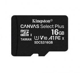 Memorie Card pentru Telefon 16GB microSD Class10 A1 UHS-I Kingston Canvas Select 600x accesorii video foto Chisinau