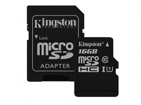 Memorie Micro SD Chisinau Kingston SDCS16GB 16GB microSDHC Class10 UHS-I with SD adapter 400x pret magazin computere md