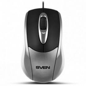 Mouse Optical SVEN RX-110 Silver 1000dpi USB 1.5m
