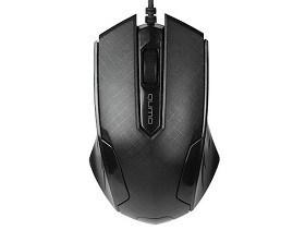 Mouse cu fir Qumo M14, Optical,1000 dpi, 3 buttons, Ambidextrous Black USB periferice componente pc magazin Calculatoare md