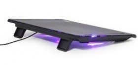 """Notebook Laptop 15.6"""" Cooling Pad MD Gembird """"NBS-2F15-01"""" Black"""
