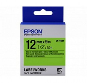 Tape Cartridge EPSON 12mm/9m Fluor Blk/Green LK4GBF C53S654018 cartuse printere md