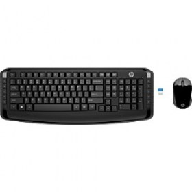 Tastatura cu Mouse Kit Wireless HP 300 Black magazin accesorii pc computere md Chisinau
