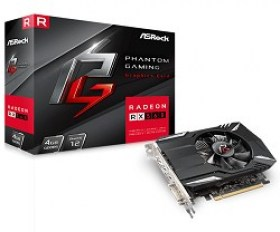 VGA card PCI-E ASRock PHANTOM RX560 4G OC Mode1223 MHz